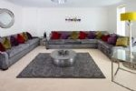 Large lounge with comfy seating for all of you and sofa bed